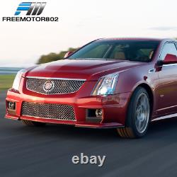 Fits 08-13 Cadillac CTS V Style Front Bumper Conversion Grille Foglight PP
