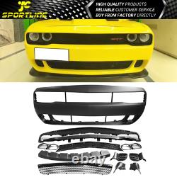 Fits 08-14 Dodge Challenger Front Bumper Cover Conversion with Grille PP