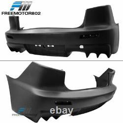 Fits 08-15 Mitsubishi Lancer Sedan EVO X Style Rear Bumper Cover Conversion PP