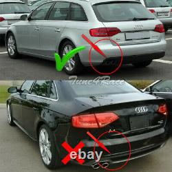 Fits 09-12 Audi A4 Base B8 Rear Bumper Diffuser Aero Kit Silver Grey S4 Style