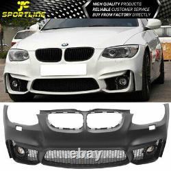 Fits 11-13 E92 E93 LCI 2Dr Coupe M4 Front Bumper Conversion With Fog Light PP