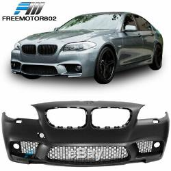 Fits 11-16 5-Series F10 M5 Style Front Bumper Conversion Kit with Fog Cover