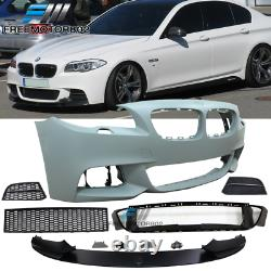 Fits 11-16 BMW F10 5 Series LCI MP Style Front Bumper Conversion Grille Lip PP