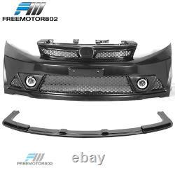Fits 12-14 Honda Civic MUG RR Style Front Bumper Conversion+Lip+Fog Light+Grille