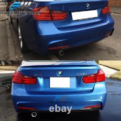 Fits 12-18 F30 3 Series MT M Sport Rear Bumper Conversion Diffuser Single Outlet