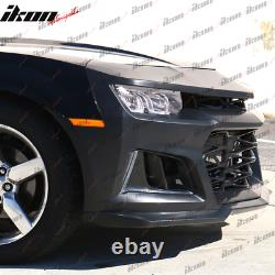 Fits 14-15 Camaro 5TH to 6TH Gen ZL1 Front Bumper Cover + Chrome Headlight + Fog