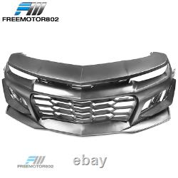 Fits 14-15 Chevy Camaro 1LE Style Front Bumper Conversion Cover Kit PP