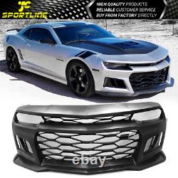 Fits 14-15 Chevy Camaro IKON 6th Gen ZL1 Front Bumper Conversion Cover PP