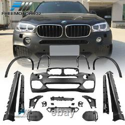 Fits 14-17 BMW F15 X5 MT Front Rear Bumper Conversion Side Skirts Fenders