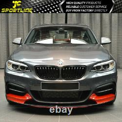 Fits 14-21 BMW F22 F23 MP Style Front Bumper Conversion + Mesh Grille Cover PP