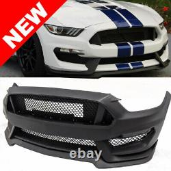 Fits 15-17 Ford Mustang GT350 Style Front Bumper Retrofit Full Conversion Kit