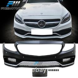 Fits 15-18 Benz W205 C-Class C63 AMG Style Front Bumper Conversion Cover Guards
