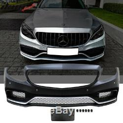 Fits 15-18 Benz W205 C-Class C63 AMG Style PP Front Bumper Conversion Kit