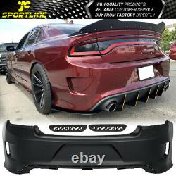 Fits 15-20 Dodge Charger Rear Bumper Cover Conversion PP Polypropylene