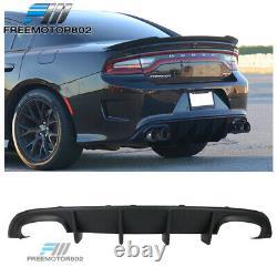 Fits 15-20 Dodge Charger Rear Bumper SRT Conversion Rear Diffuser Lip PP