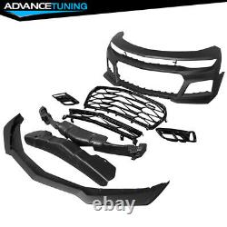 Fits 16-18 Chevrolet Camaro ZL1 Style Unpainted PP Front Bumper with Lip & Grille