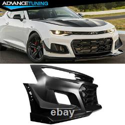 Fits 16-18 Chevy Camaro 1LE Style Front Bumper Cover Unpainted PP