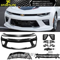 Fits 16-18 Chevy Camaro SS 50th Anniversary Front Bumper Conversion With Grille