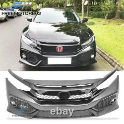 Fits 16-20 Civic Si 2Dr 4Dr OE Style Front Bumper Conversion & R Style Grille