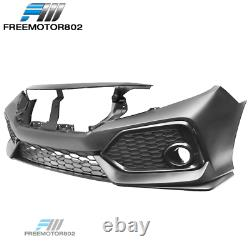 Fits 16-20 Honda Civic Si 2Dr 4Dr OE Style Front Bumper Conversion Cover Bodykit