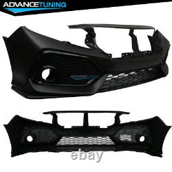 Fits 16-20 Honda Civic Si OE Style Front Bumper Conversion PP