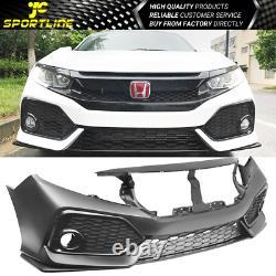 Fits 16-20 Honda Civic Si Sedan Coupe OE Style Front Bumper Conversion Bodykit
