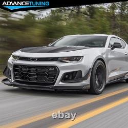 Fits 16-21 Chevy Camaro 1LE Style Front Bumper Cover OE Style Rear Diffuser PP