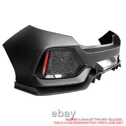 Fits 17-20 Honda Civic Hatchback Type R Rear Bumper Cover Conversion Kit