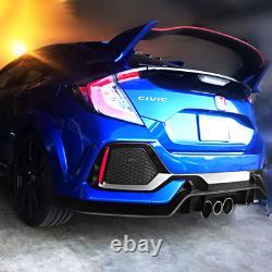 Fits 17-21 Honda Civic Hatchback Type-R Rear Bumper Lip Conversion Kit