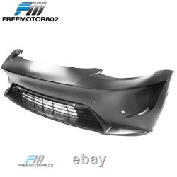 Fits 17-21 Tesla Model 3 IKON Style Front Bumper Cover Unpainted PP