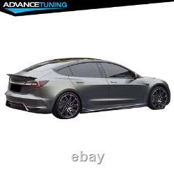 Fits 17-21 Tesla Model 3 IKON Style Rear Bumper Conversion PP