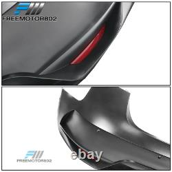 Fits 17-21 Tesla Model 3 IKON Style Rear Bumper Cover Unpainted PP