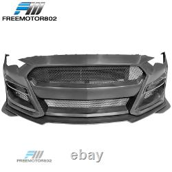 Fits 18-20 Ford Mustang GT500 Style Front Bumper Conversion with Grille