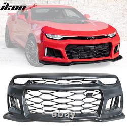 Fits 19-20 Chevy Camaro ZL1 Style Front Bumper Conversion Guard Unpainted PP