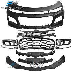 Fits 19-20 Chevy Camaro ZL1 Style Front Bumper Conversion Unpainted PP
