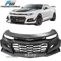 Fits 19-21 Chevy Camaro ZL1 Style Front Bumper Conversion Unpainted PP