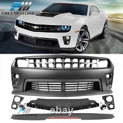 Fits 2010-2013 Chevy Camaro ZL1 Front Bumper Conversion + Rear Trunk Spoiler