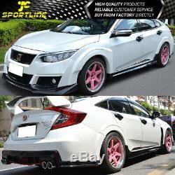 Fits 2016-2018 Honda Civic 10TH Gen TR Style Bumper Conversion Kit PU