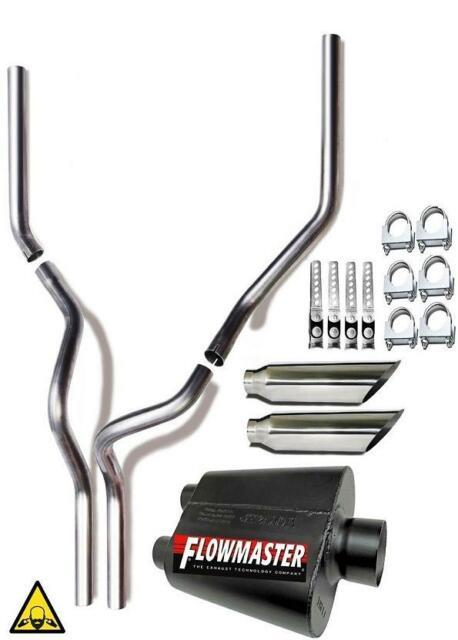 Fits 87-02 F Series Dual Mandrel Conversion Exhaust With Flowmaster Muffler