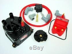 Fits 92-95 Honda CIVIC DX LX Msd Distributor Cap Conversion Kit Blaster Ss Coil