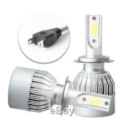 Fits 97-04 Chevy Corvette C5 Headlights Projector Lamp Black Dual LED Halo Rims