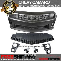 Fits Chevy Camaro ZL1 Conversion Front Bumper Cover + Trunk Spoiler