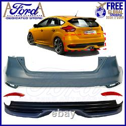 Fits Focus St 15 16 17 18 Rear Bumper Cover Kit St Conversion Primed 5dr Hb New