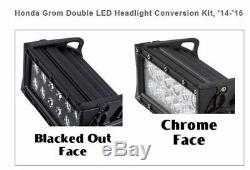 Fits Honda Grom Double Led Headlight Conversion Kit 2014-2016 Chrome Glow