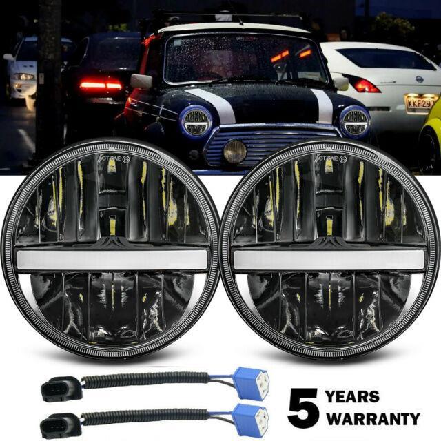 Fits Mini Classic 7 Inch Round Headlight Conversion Kit Led Headlamp Kit H4 Bulb