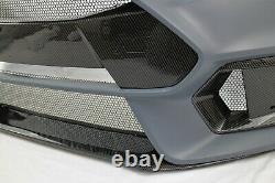 Focus RS Front Bumper Conversion carbon style set fits 15-18 FOCUS ST SE RS