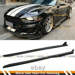For 2015-2020 Ford Mustang GT500 Style Gloss Black Side Skirt Extension Splitter