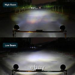 For Hummer H1 H2 H3 H3T 7LED Halo Angel Eye Headlight H4-H13 DRL H/Lo Beam Lamp