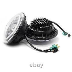 For Jeep Wrangler Liberty 7''LED Halo Headlights+4''LED Fog Light Combo Kit US