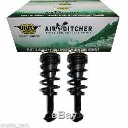 Front Loaded Air to Coil Conversion Kit Strut Pair Fits 07-11 Chevy Avalanche